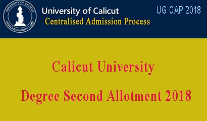 Degree Second Allotment 2018