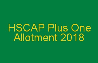 Plus One Allotment 2018
