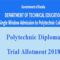 Polytechnic Trial Allotment 2018