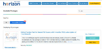 Manorama Horizon PSC Online Test / Mock Test