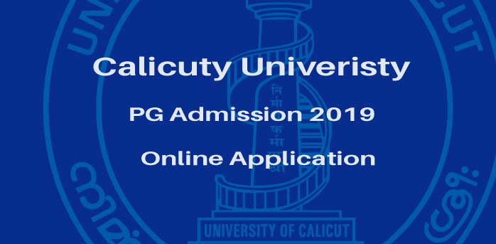 Calicut PG Allotment, PG Admission 2019