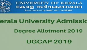 Kerala University Degree Allotment 2019