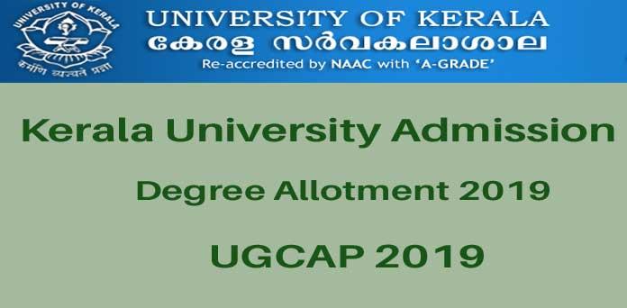 Kerala University Degree Allotment 2019