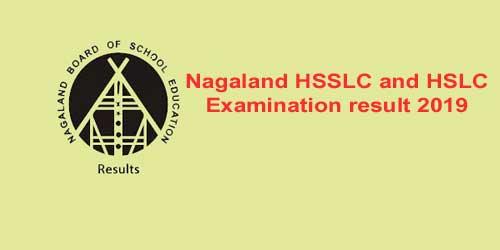 Nagaland HSSLC and HSLC exam result 2019