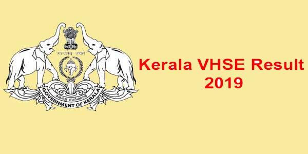 kerala VHSE result 2019