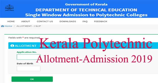 Polytechnic allotment 2019