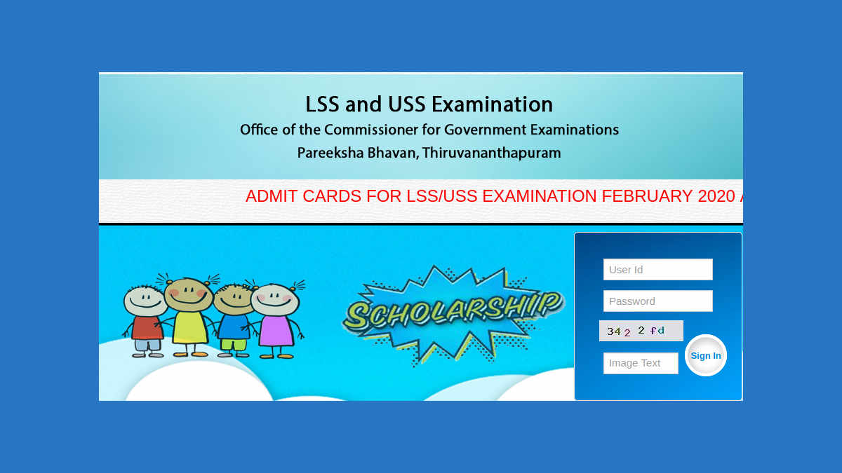LSS/USS Exam Hall Ticket download 2020