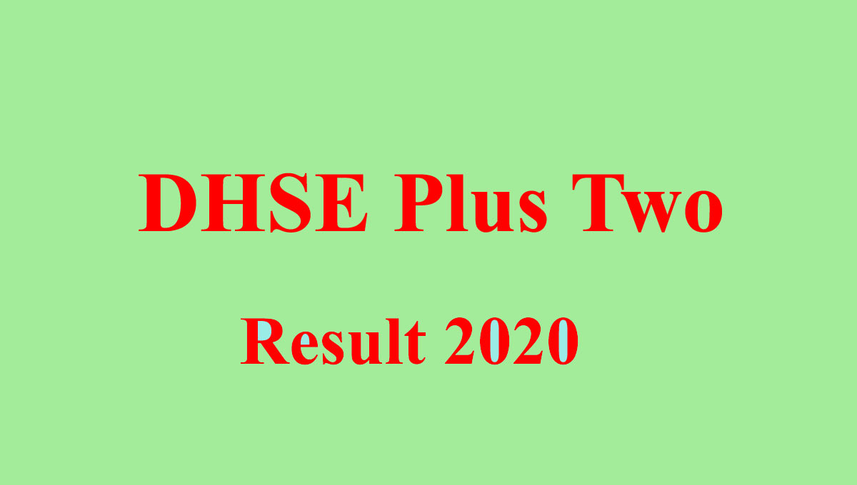 DHSE Plus Two Result 2020