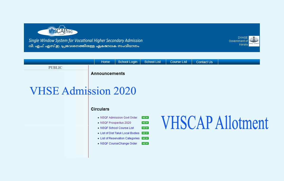 VHSCAP Allotment