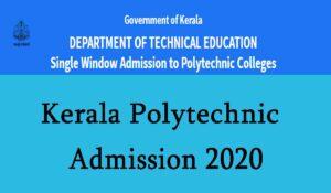 Kerala Polytechnic Admission 2020