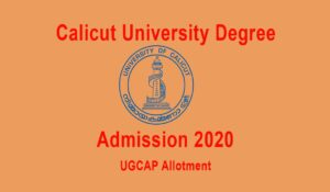 Degree Allotment Calicut University