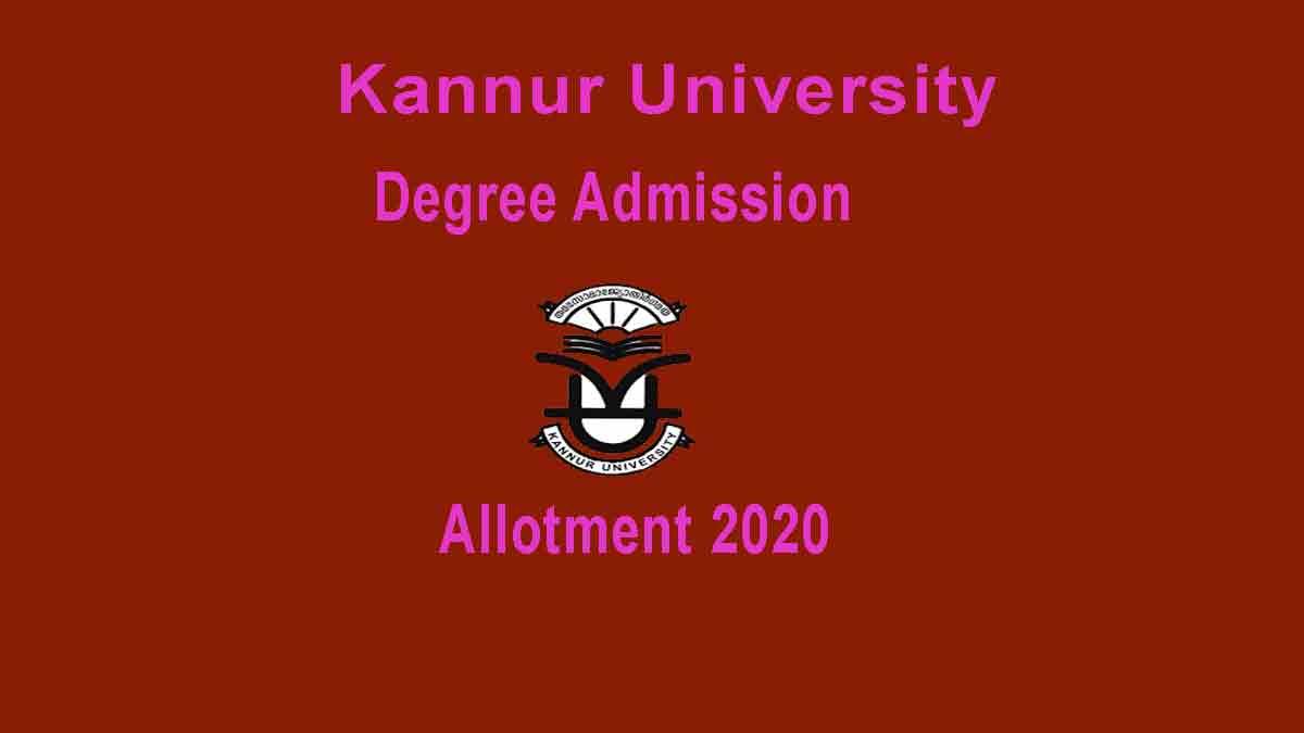 Kannur UG Allotment 2020
