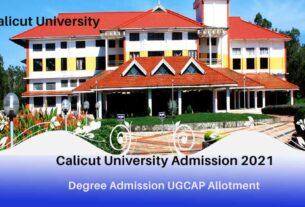 Calicut Degree Admission